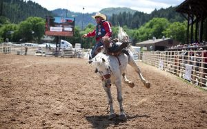 The Days of 76 rodeo is draw for spectators of all ages