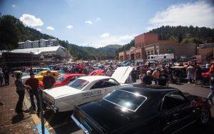 Cars Lined Up at Kool Deadwood Nites