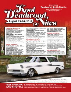 Schedule of events for the 2018 Kool Deadwood Nites