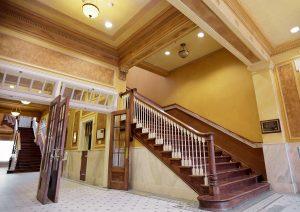Historic Homestake Opera House grand stairs