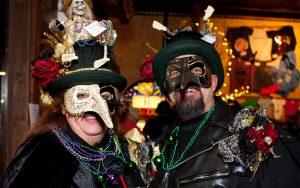 Mardi Gras Masked Attendees