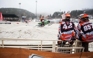 SnoCross Racers on the Gate