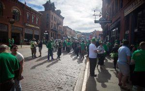 Historic Main Street on St Patricks Day