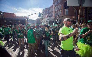 St Patricks Crowds