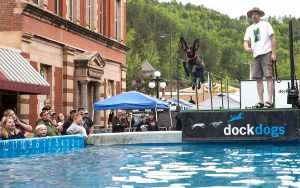 Wild Bill Days DockDogs Leaping for Distance