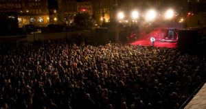 A crowd overview during a concert in Deadwood
