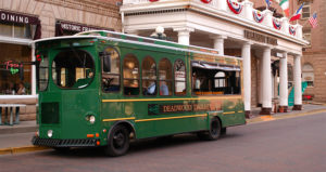 Deadwood's trolley system is handicap accessible. Pickup is at the Welcome Center.