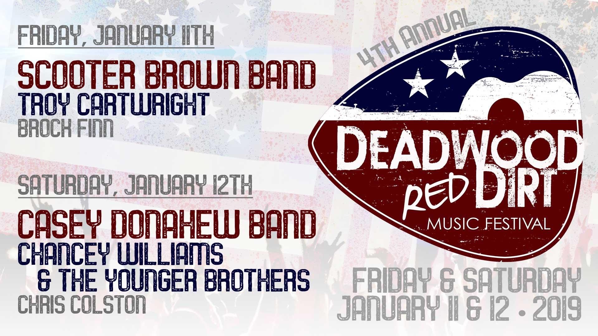 Red Dirt Music Festival 2020 Red Dirt Music Festival at Deadwood Mountain Grand   Deadwood
