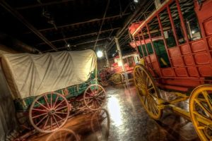 Wagons showcased at Days of '76 Museum