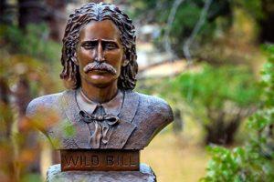 Wild Bill statue at Mt Moriah