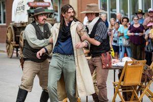 Men reenacting wild west events in Deadwood